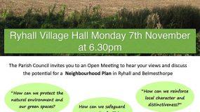 Neighbourhood Planning in Ryhall and Belmesthorpe th Novemeber