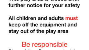 Covid play area poster